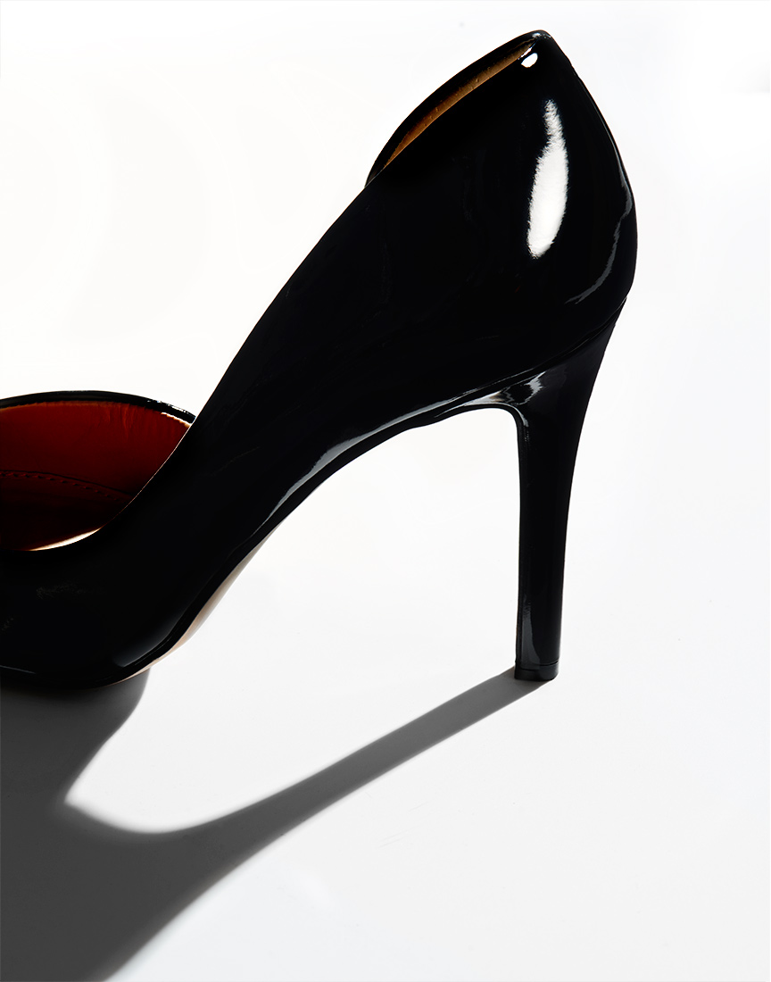 High Heel on White by Ted Cavanaugh